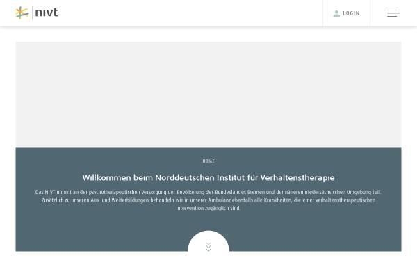 Vorschau von www.nivt.de, Norddeutsches Institut für Verhaltenstherapie e.V.