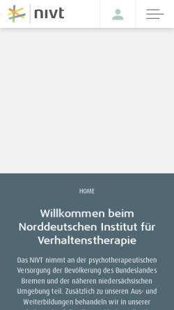 Vorschau der mobilen Webseite www.nivt.de, Norddeutsches Institut für Verhaltenstherapie e.V.
