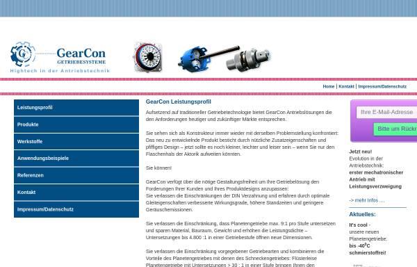 Vorschau von www.gearconweb.com, GearCon GmbH