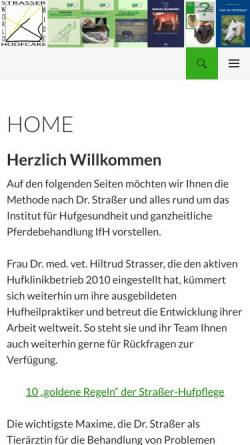 Vorschau der mobilen Webseite www.hufklinik.de, Hufklinik Dr. Hiltrud Straßer