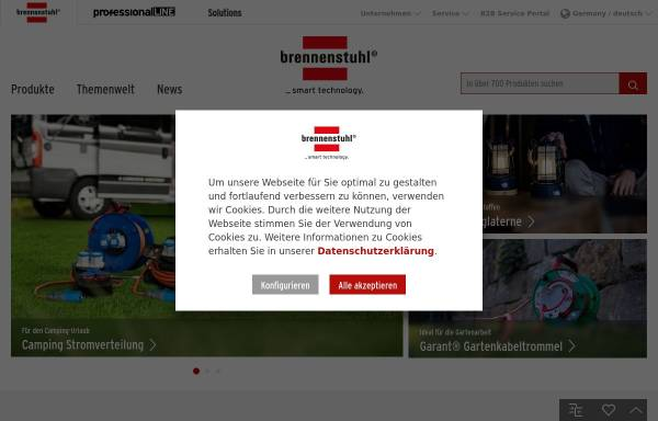 Vorschau von www.brennenstuhl.de, Hugo Brennenstuhl GmbH & Co. KG