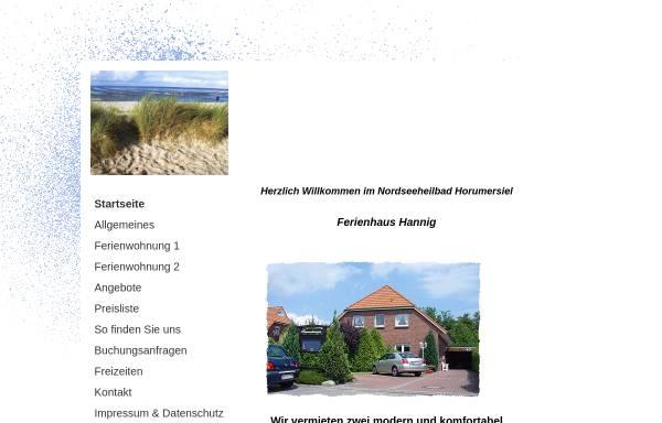 Vorschau von www.ferienhaus-hannig.de, Ferienhaus Hannig