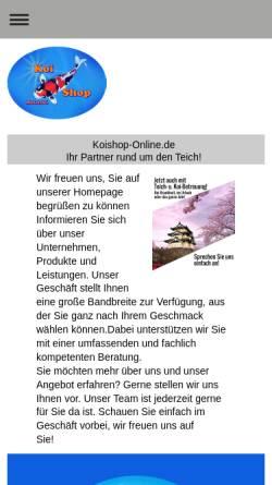 Vorschau der mobilen Webseite www.koishop-online.de, Koishop-Online