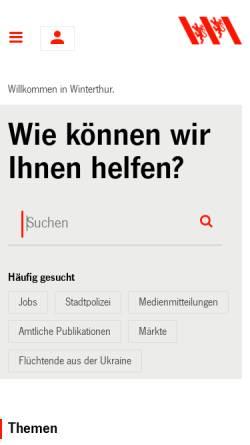 Vorschau der mobilen Webseite www.bruderhaus.ch, Wildpark Bruderhaus, Winterthur