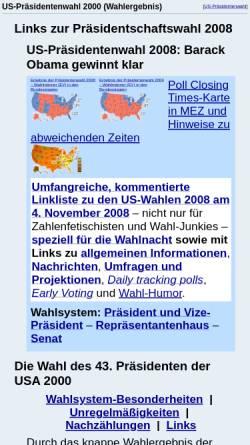 Vorschau der mobilen Webseite www.wahlrecht.de, Die Wahl zum 43. US Präsidenten