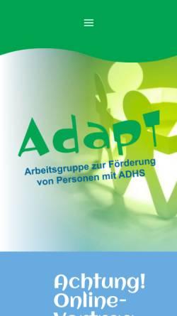 Vorschau der mobilen Webseite www.adapt.at, Adapt