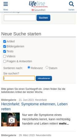 Vorschau der mobilen Webseite www.qualimedic.de, ADHS
