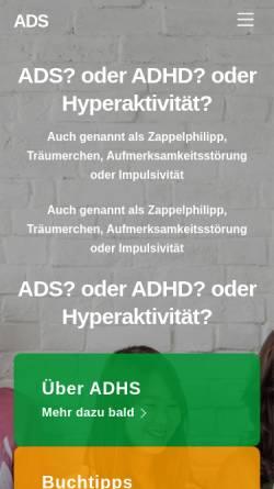 Vorschau der mobilen Webseite www.ads-hyperaktivitaet.de, Elterngruppe ADS/H Frankfurt
