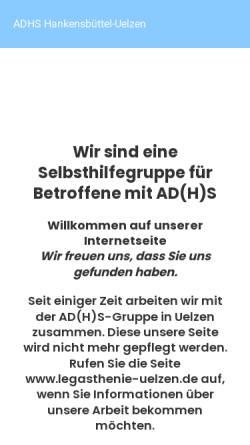 Vorschau der mobilen Webseite jojo-adhs.de, JoJo-ADHS