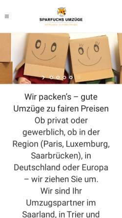 Vorschau der mobilen Webseite www.umzuege-karcher.de, Karcher GmbH