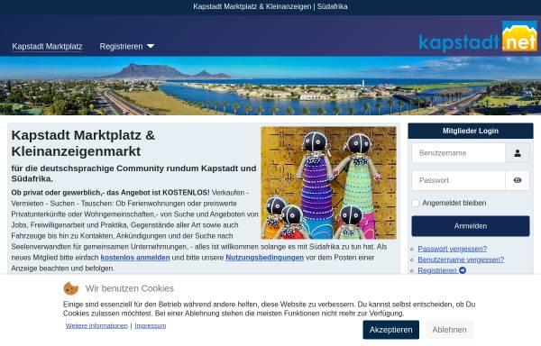 Vorschau von www.kapstadt.net, Kapstadt Portal