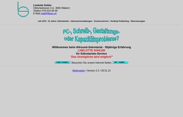 Vorschau von www.liloso.ch, Liselotte Sohler - Privatsekretariat