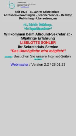 Vorschau der mobilen Webseite www.liloso.ch, Liselotte Sohler - Privatsekretariat