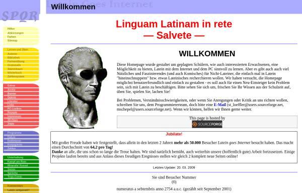 Vorschau von latein.sourceforge.net, Latein goes Internet
