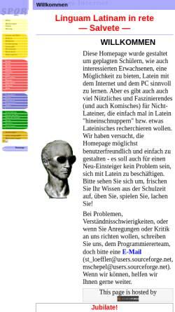 Vorschau der mobilen Webseite latein.sourceforge.net, Latein goes Internet