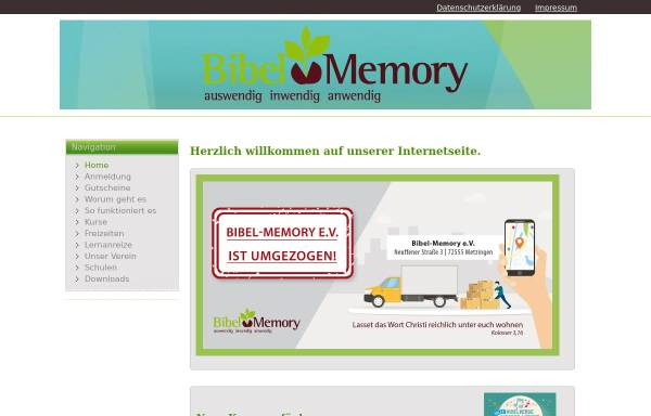 Vorschau von www.bibel-memory.de, Bibel-Memory e.V.