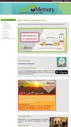 Vorschau der mobilen Webseite www.bibel-memory.de, Bibel-Memory e.V.