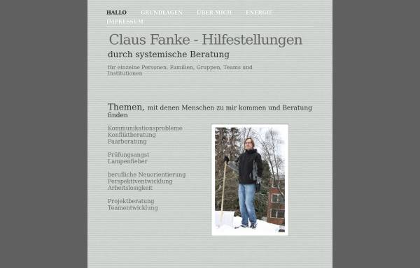 Vorschau von clausfanke.de, Hilfestellungen Claus Fanke