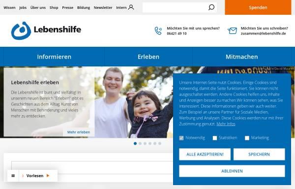 Vorschau von www.lebenshilfe.de, Bundesvereinigung Lebenshilfe für Menschen mit geistiger Behinderung