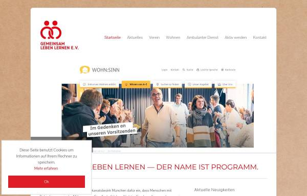 Vorschau von www.gll-muenchen.de, Gemeinsam leben lernen e.V.