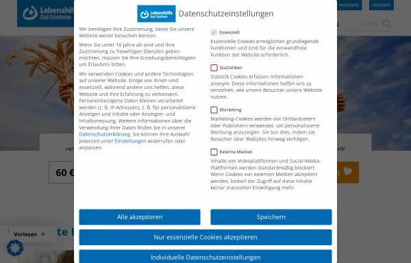 Vorschau von www.lebenshilfe-duew.de, Lebenshilfe Bad Dürkheim