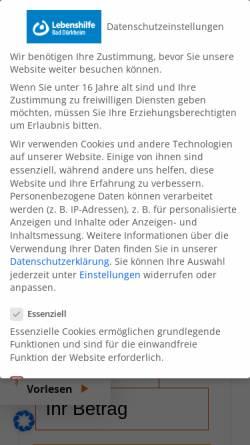 Vorschau der mobilen Webseite www.lebenshilfe-duew.de, Lebenshilfe Bad Dürkheim