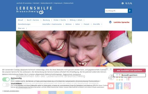 Vorschau von www.lebenshilfe-braunschweig.de, Lebenshilfe Braunschweig
