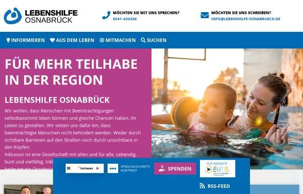 Vorschau von www.lebenshilfe-osnabrueck.de, Lebenshilfe für geistig Behinderte in Osnabrück