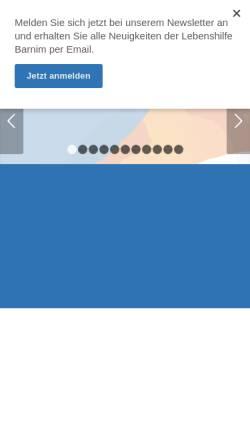 Vorschau der mobilen Webseite www.lebenshilfe-barnim.de, Lebenshilfe Kreisvereinigung Barnim e.V.