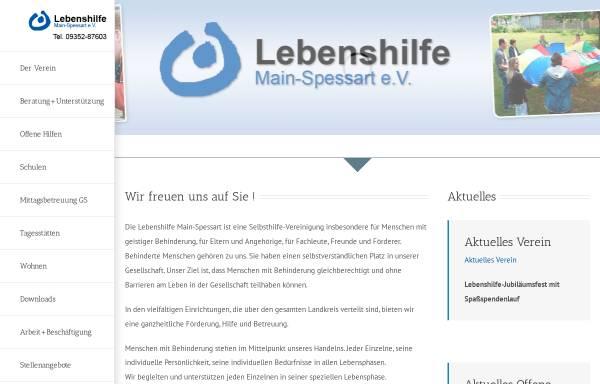 Vorschau von lebenshilfe-msp.de, Lebenshilfe Main-Spessart aus Lohr