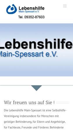 Vorschau der mobilen Webseite lebenshilfe-msp.de, Lebenshilfe Main-Spessart aus Lohr