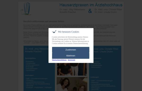 Vorschau von www.hochhausarzt.de, Hausarztpraxen Dr. de Vries / Dr. Drohn und Dr. Weissmann / Püschel