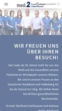 Vorschau der mobilen Webseite www.med-2.de, Holzhausen, Dr. med. Burkhard