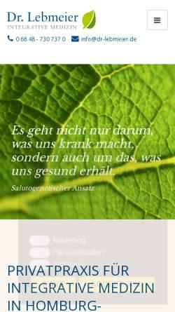 Vorschau der mobilen Webseite dr-lebmeier.de, Lebmeier, Dr. med. Rupert