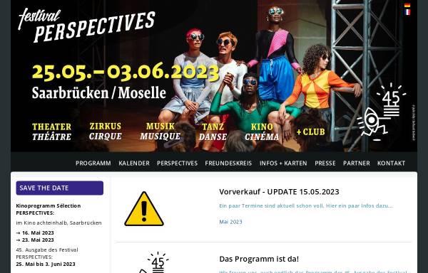 Vorschau von www.festival-perspectives.de, Perspectives Deutsch-Französisches Festival der Bühnenkunst