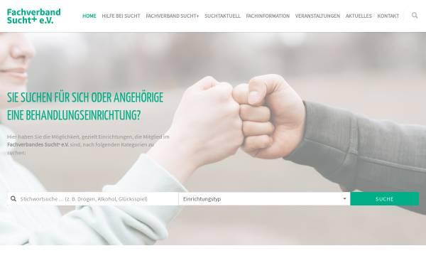 Vorschau von www.sucht.de, Fachverband Sucht e.V.