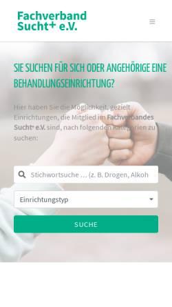 Vorschau der mobilen Webseite www.sucht.de, Fachverband Sucht e.V.
