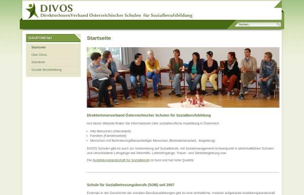 Vorschau von www.divos.at, Direktverband Österreichischer Soziallehranstalten