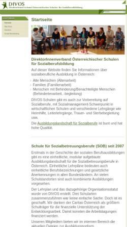 Vorschau der mobilen Webseite www.divos.at, Direktverband Österreichischer Soziallehranstalten