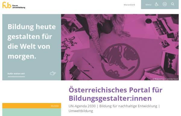 Vorschau von www.umweltbildung.at, Forum Umweltbildung