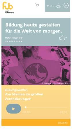 Vorschau der mobilen Webseite www.umweltbildung.at, Forum Umweltbildung