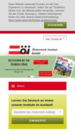 Vorschau der mobilen Webseite www.oesterreichinstitut.at, Österreich Institut