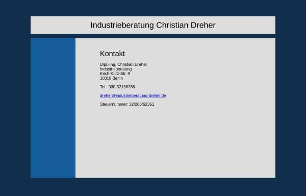Vorschau von www.industrieberatung-dreher.de, Industrieberatung Christian Dreher