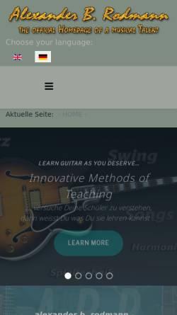 Vorschau der mobilen Webseite www.alexander-rodmann.de, Rodmann, Alexander