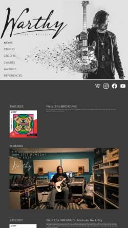 Vorschau der mobilen Webseite www.warthy.de, Warthy