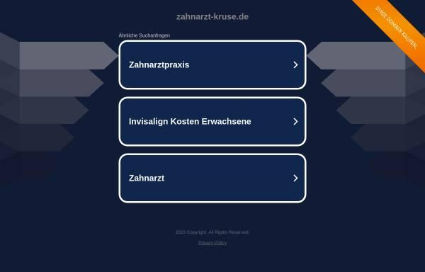 Vorschau von www.zahnarzt-kruse.de, Christina Kruse, Zahnarztpraxis
