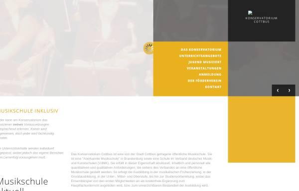 Vorschau von www.konservatorium-cottbus.de, Konservatorium Cottbus
