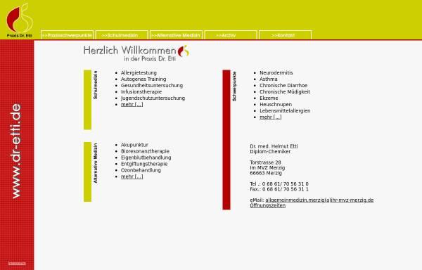 Vorschau von www.dr-etti.de, Etti, Dr. med. Dipl. Chem. Helmut