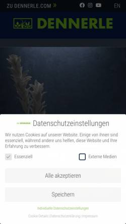 Vorschau der mobilen Webseite dennerle.com, Dennerle GmbH