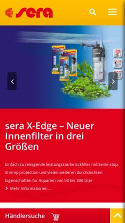 Vorschau der mobilen Webseite www.sera.de, Sera GmbH